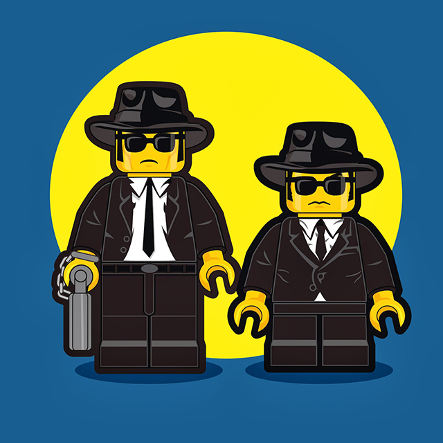 Lego Men - The Blues Brothers