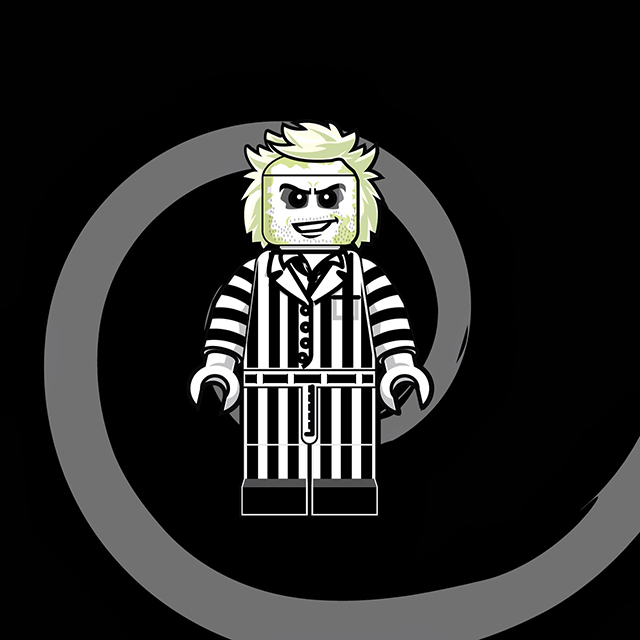 Lego Men - Beetlejuice