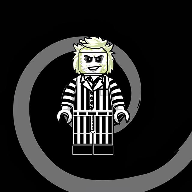 Lego Men - Beetlejuice