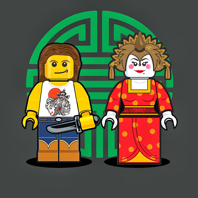 Lego Men - Jack Burton and Gracie Law from Big Trouble In Little China