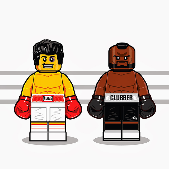 Lego Men- Rocky Balboa and Clubber Lang from Rocky III