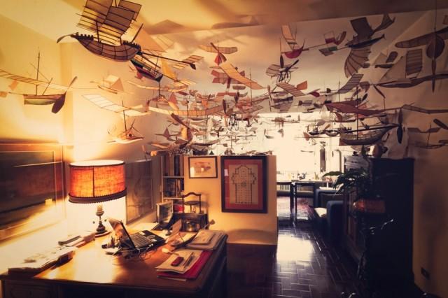 Flying ship models by Luigi Prina