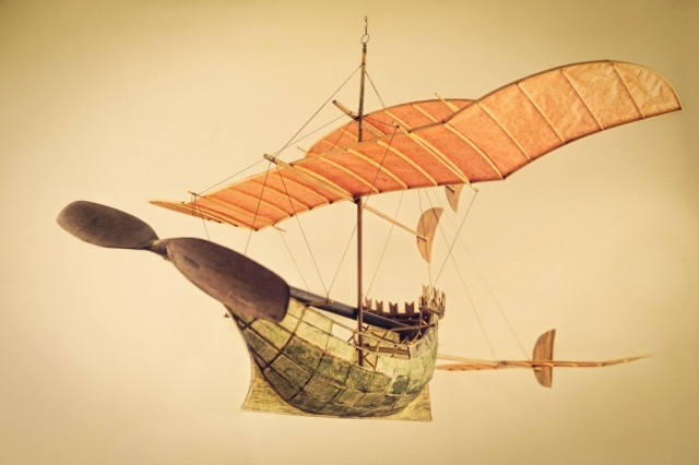 Flying ship models by Luigi Prina
