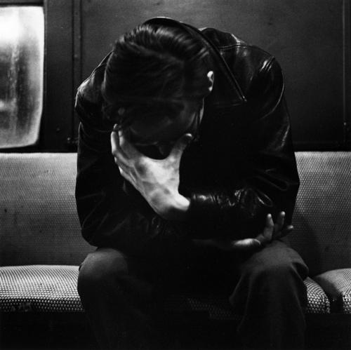 Man on 1960 Subway