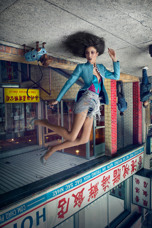 Fortune Cookie, A Photo Series Featuring Fashion Models Posed Upside Down