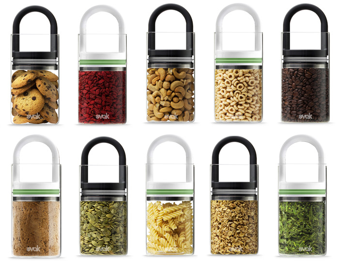 EVAK, A 'Food In, Air Out' Glass Food Storage Container System