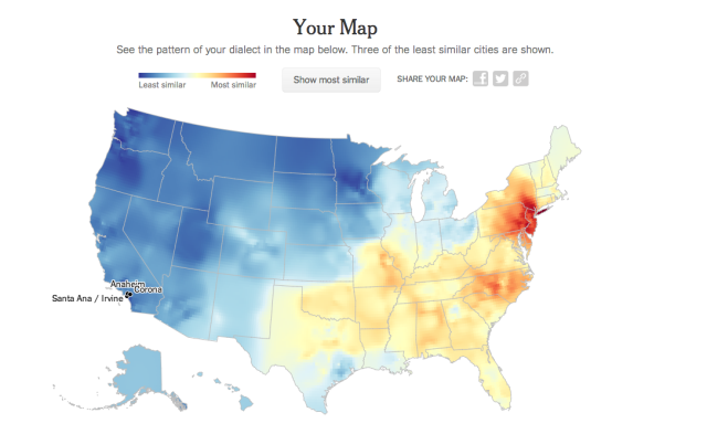 www nytimes com interactive 2013 12 least similar maps dialect quiz question