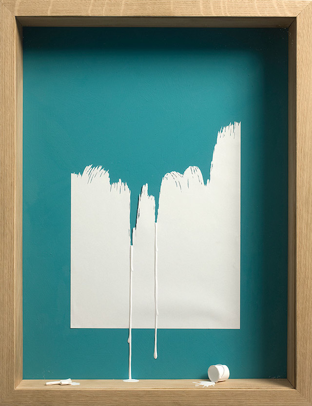 Framed A4 Paper Cut Art Using Negative And Positive Space