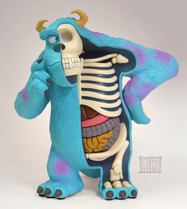 Dissected Sulley by Jason Freeny