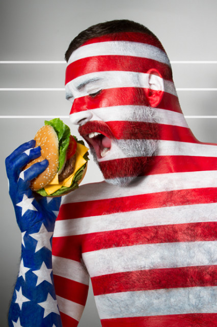 USA Flag Burger