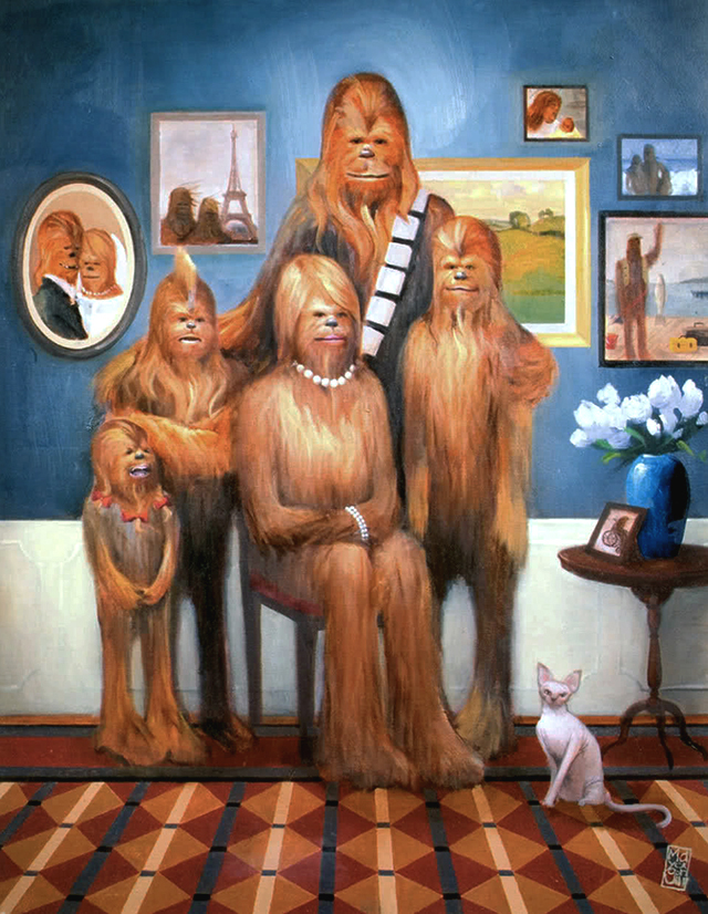 Wookie Family Portrait by Maya Gohill