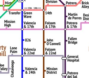 Simple San Francisco Bike Map
