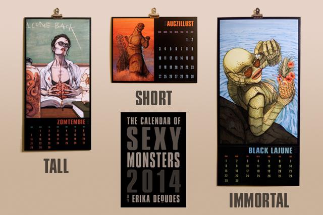 Calendar of Sexy Monsters