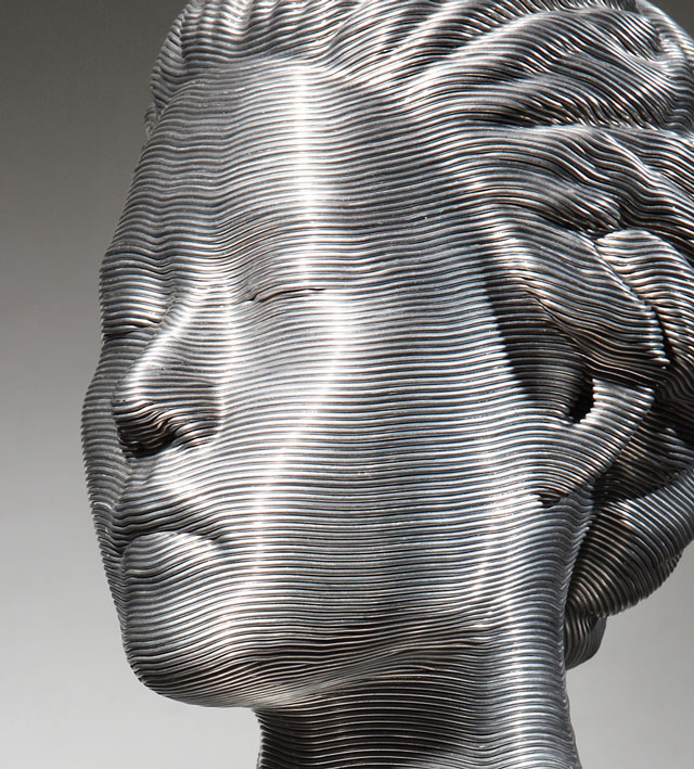 Wire sculptures by Seung Mo  Park