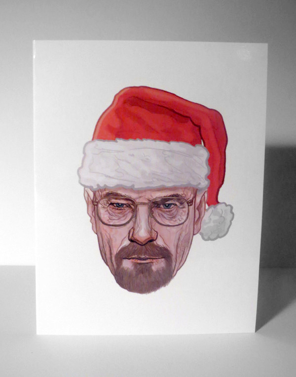 Sled Lightly Breaking Bad Christmas Card