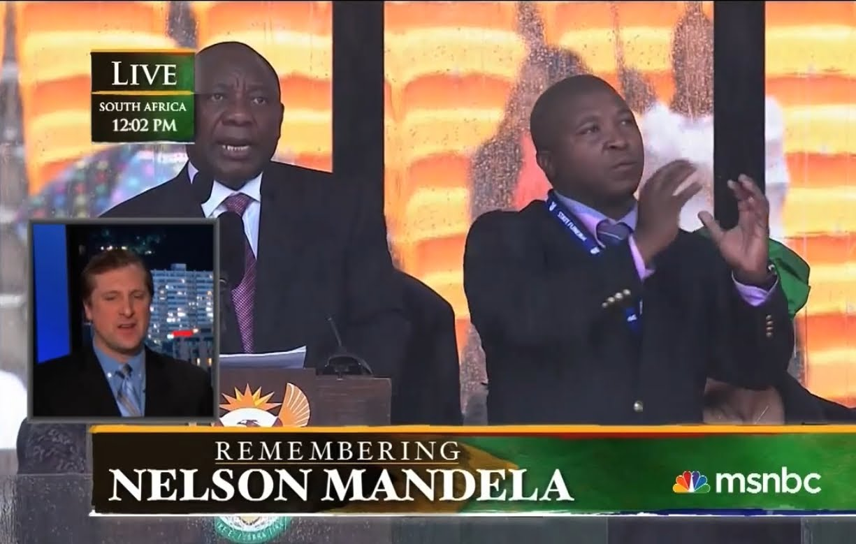 Jimmy Kimmel Gets a Real Sign Language Interpreter to Translate the Mandela Memorial Imposter