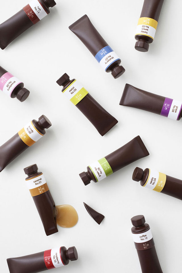 Chocolate paints by Nendo