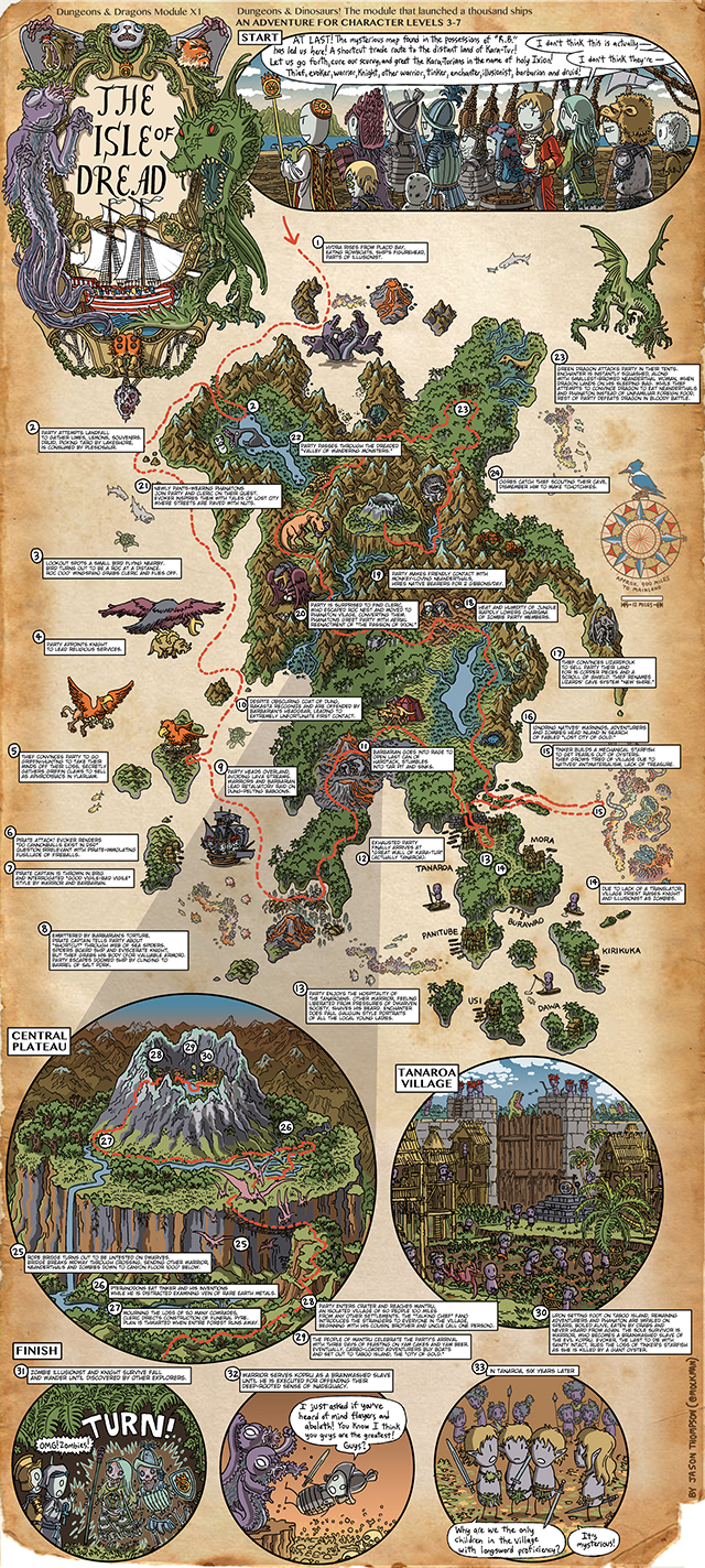 Beautiful 'Dungeons & Dragons' Walkthrough Maps Illustrated by Jason on