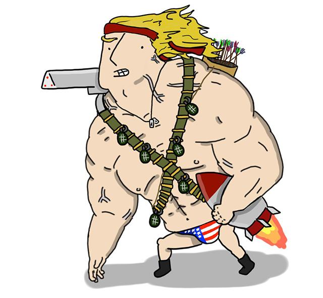 The Scantily Clad Mega-Soldier