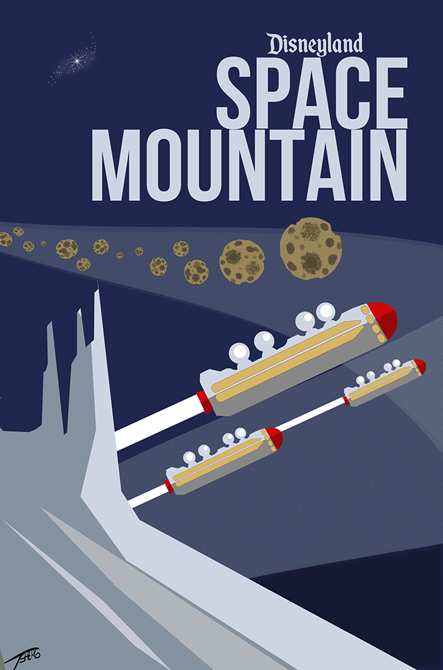 Minimalist Posters of Disneyland Attractions and Rides