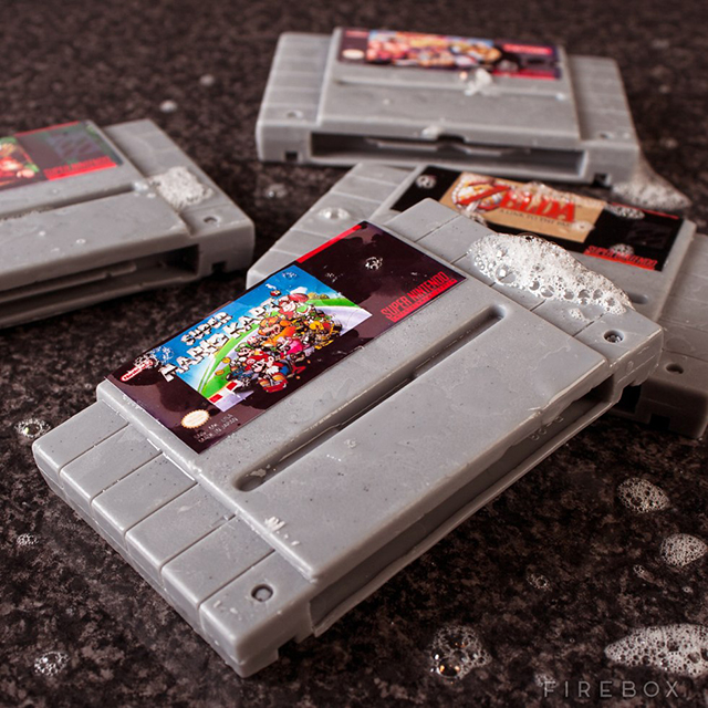 Super Nintendo Video Game Soap Cartridges