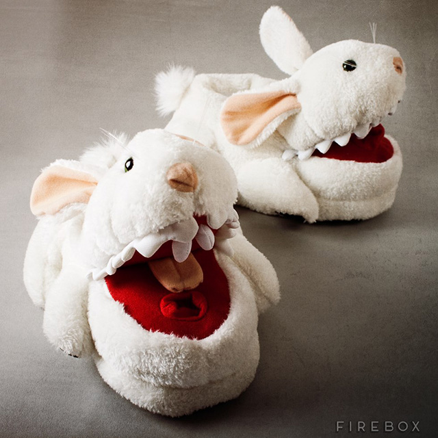 Monty Python Killer Bunny Slippers with Pointy Teeth