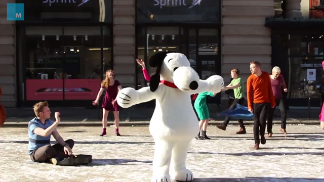 A Costumed Flash Mob Performs the Classic 'Peanuts' Christmas Dance in New York City