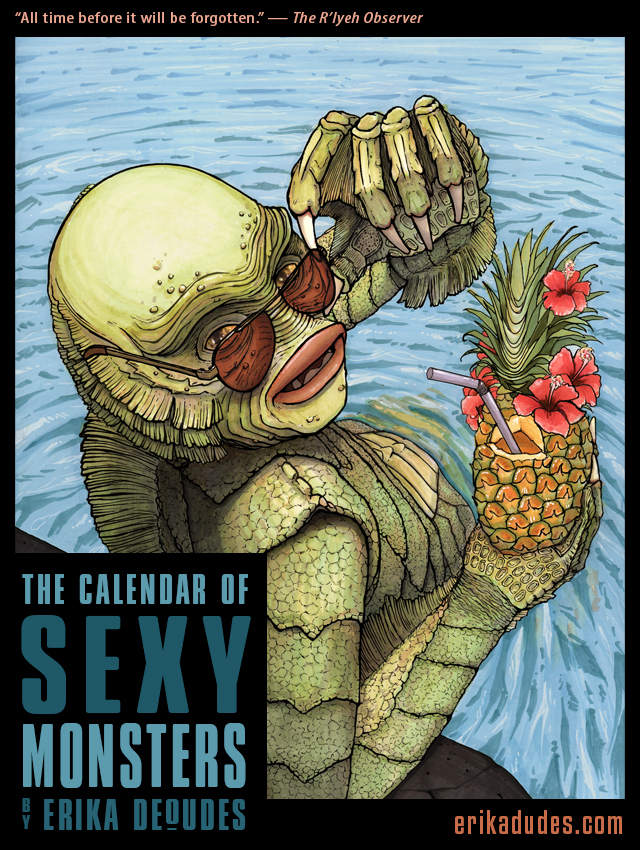 2014 Calendar of Famous Movie Monsters in Surprisingly Sexy Poses