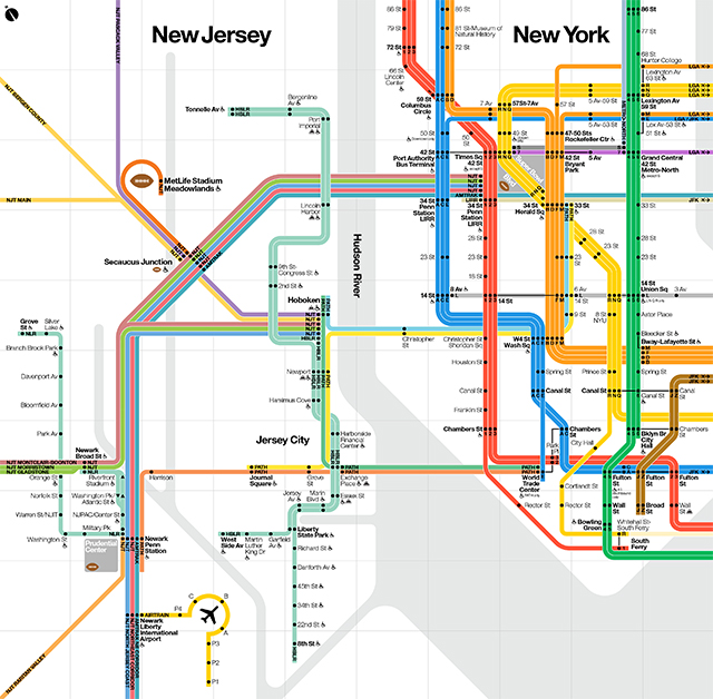Regional Transit Diagram for Super Bowl XLVIII