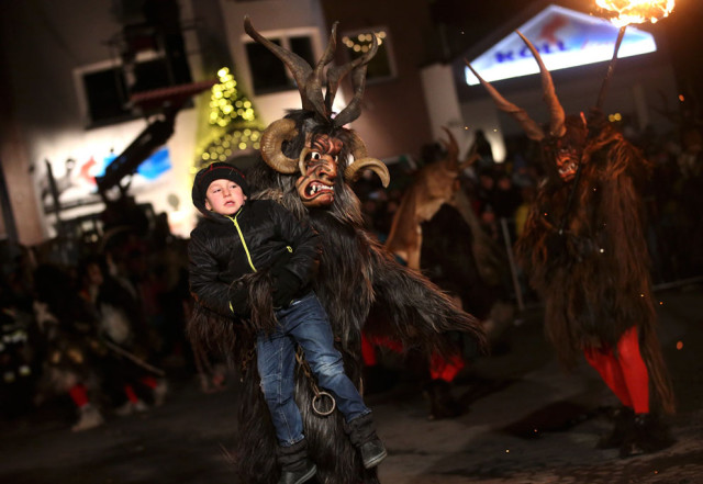 Photos of Krampus in Central Europe