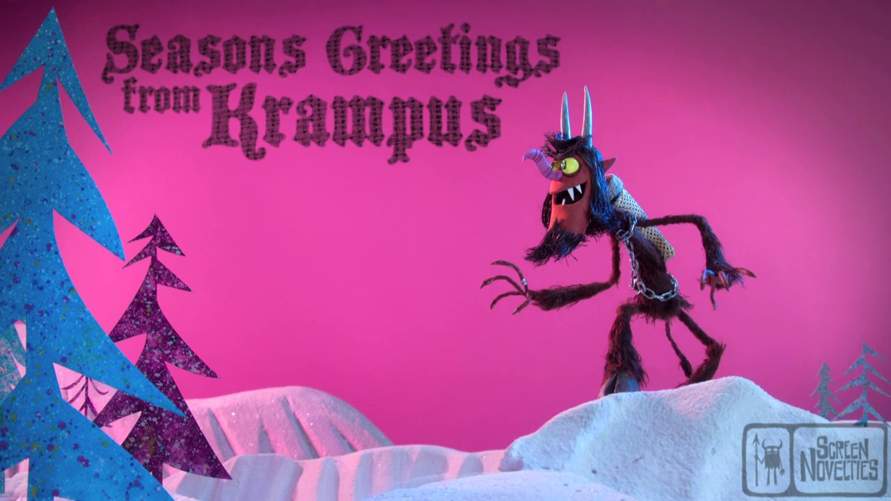 Stop Motion Animated Holiday Ecard Featuring The Demonic Christmas