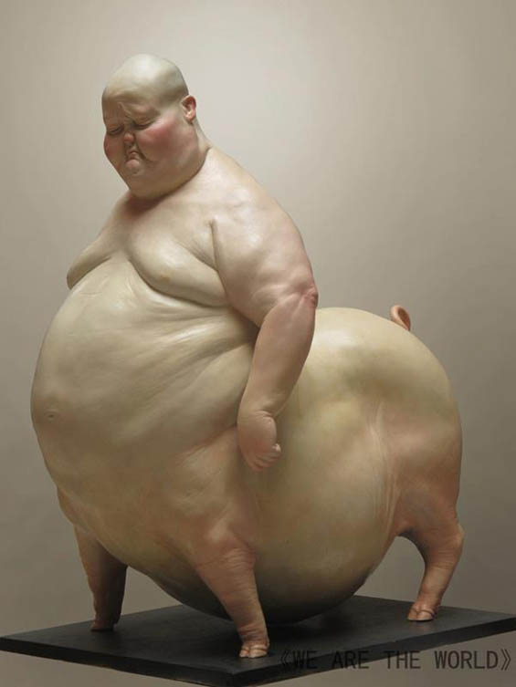 Animal Human Hybrid Sculptures by Liu Xue