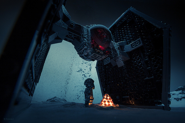 Photographer Creates 'Star Wars' Hoth Scenes Using LEGO and Baking Powder
