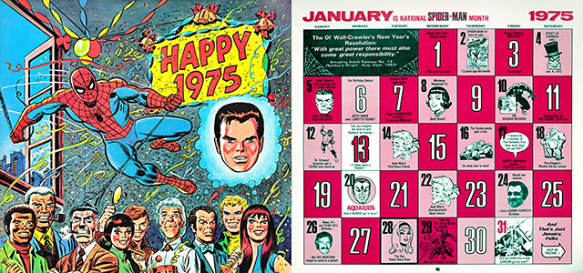 2014/1975 Marvel Desktop Wallpaper Calendar