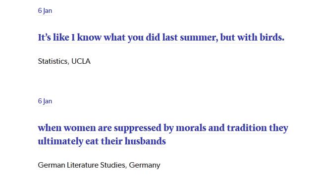 Funny essay titles