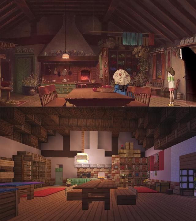 Spirited Away Recreated in Minecraft