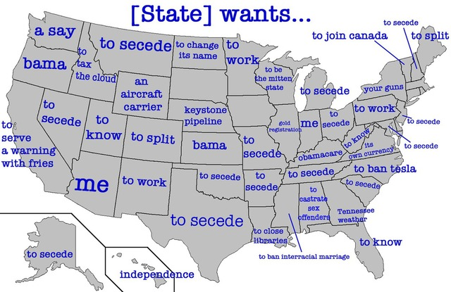 A Map of What Each US State Wants According to Google Autocomplete