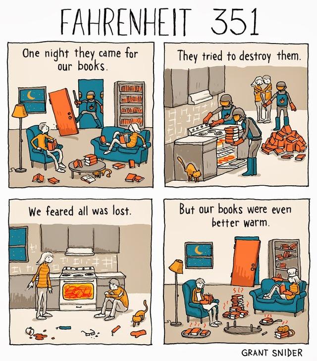Fahrenheit 351, A Comic with a Funny Twist on Ray Bradbury's 'Fahrenheit 451'