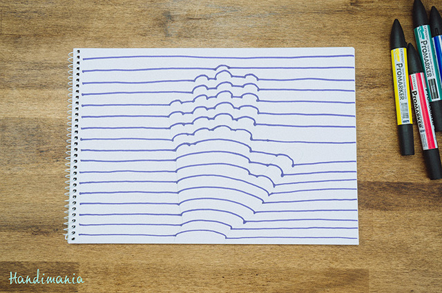 3d Line Drawing Hand : How to draw a d optical illusion of your hand