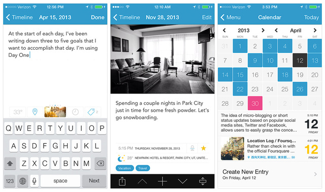 Day One, A Journaling App for iOS and Mac