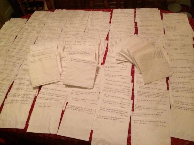 500 Napkin Notes