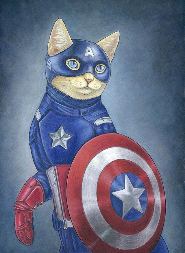 Captain America by Jenny Parks