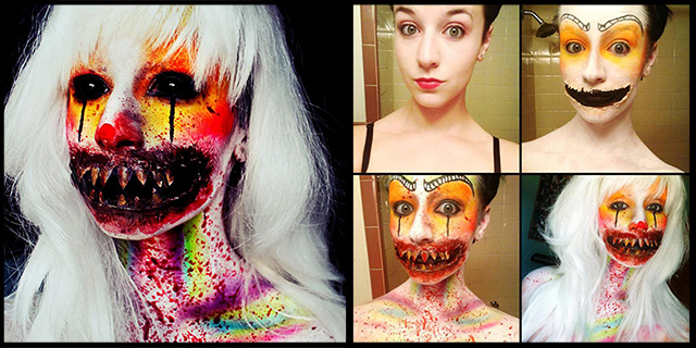 Creepy and Colorful Makeup Transformations by Stephanie Fernandez