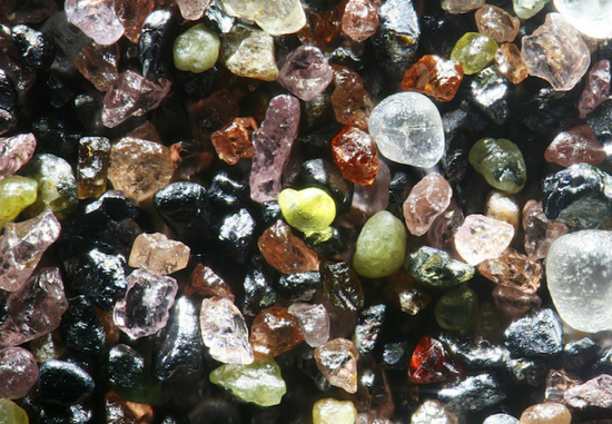 Sand from Lake Winnebigoshish, Minnesota Magnified 100x