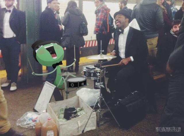 Matching Monster - Subway Musician
