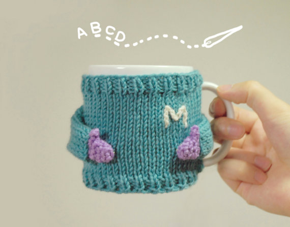 Mug Sweater - Aqua Monogram