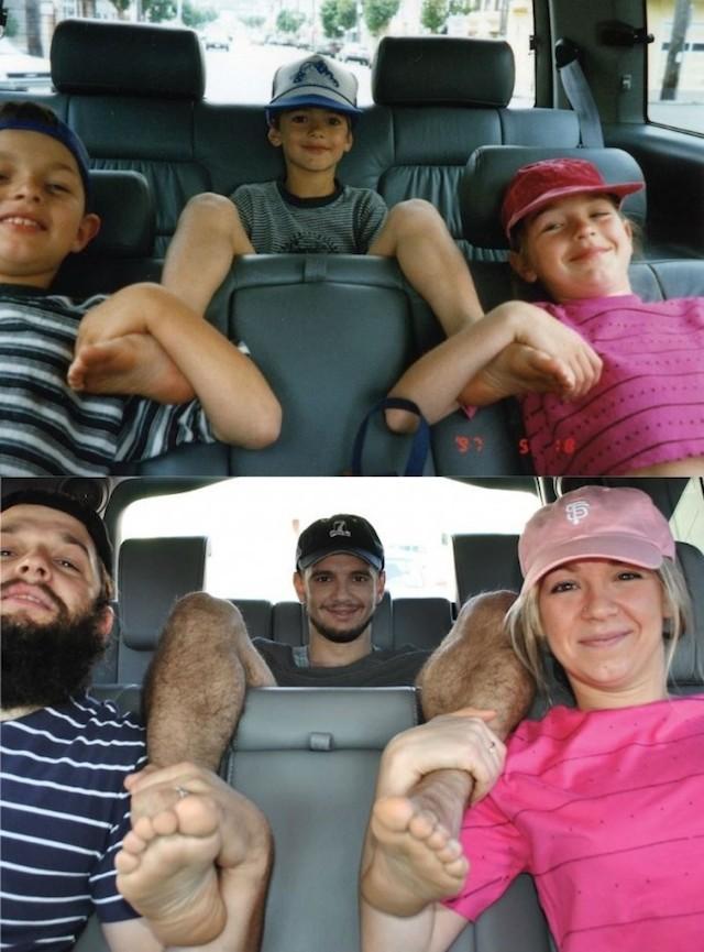 Siblings Recreations in Minivan