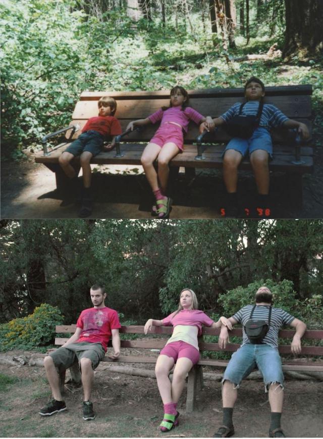 Siblings  Park Bench Recreations