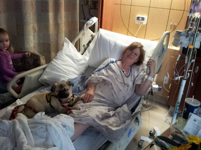 Xander in the Hospital with Marcie