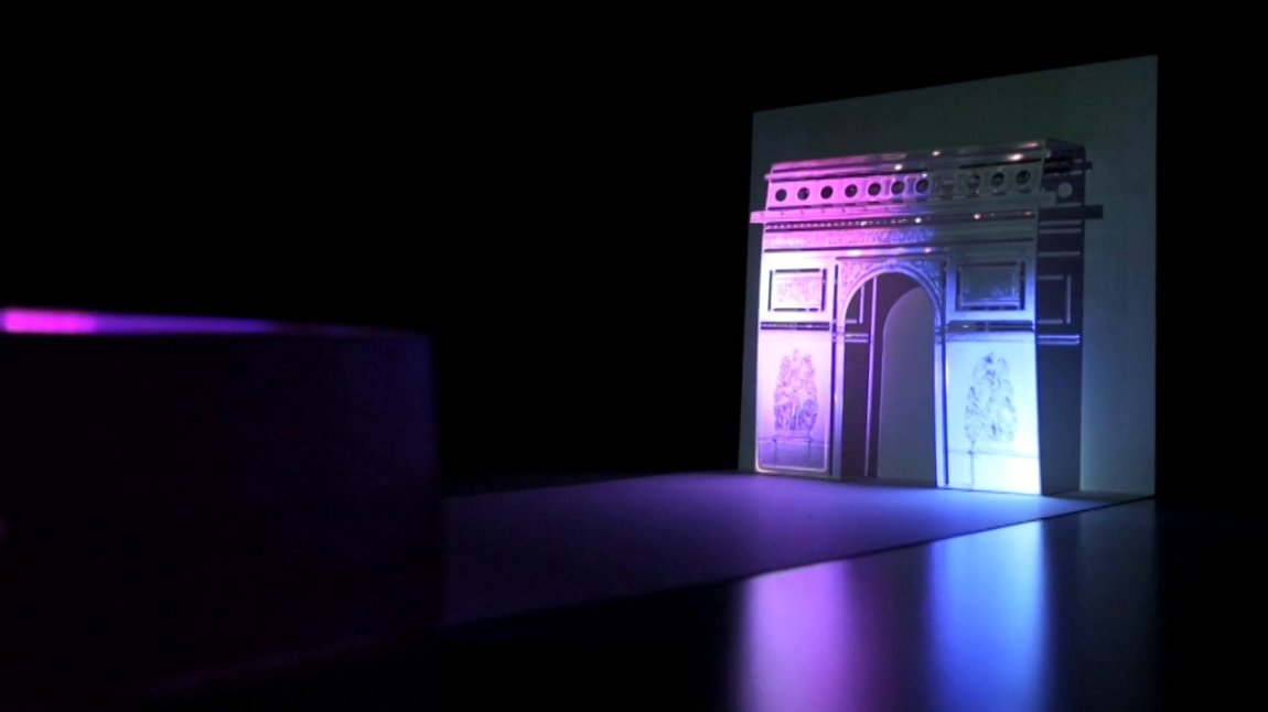 A Pop-Up Greeting Card That Uses a Smartphone as a Video Projector